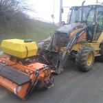 čištění silnic a volných ploch silničním zametačem